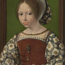 Gossaert. Retrato de princesa con esfera armilar