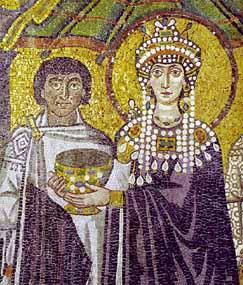 Arte bizantino for El mural de mosaicos