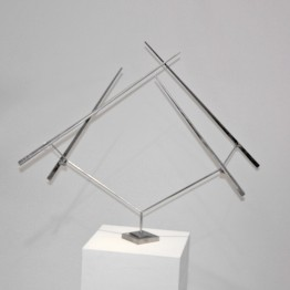 George Rickey. Four lines oblique-zigzag, 1977-1978
