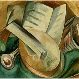 Cubismo. Autor: Georges Braque. Instrumentos musicales