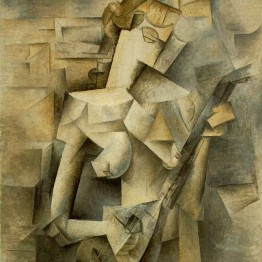 Pablo Picasso. Chica con mandolina, 1910