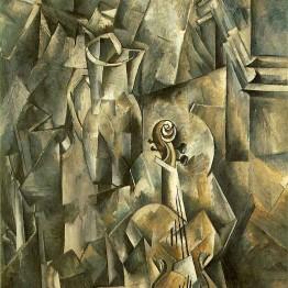 Georges Braque. El músico, 1918