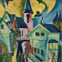Kirchner. Königstein mit roter Kirche