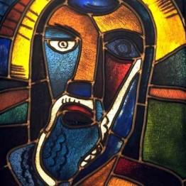 Karl Schmidt-Rottluff. Cabeza de Jesucristo, 1919