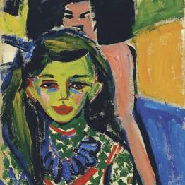 Expresionismo. Schmidt-Rottluff. Mujer frente al espejo