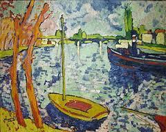 Maurice de Vlaminck. The River Seine at Chatou, 1906