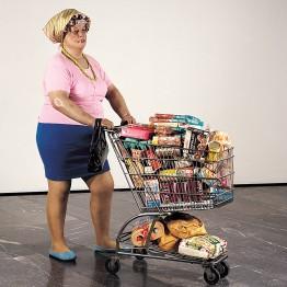 Duane Hanson. Supermarket lady