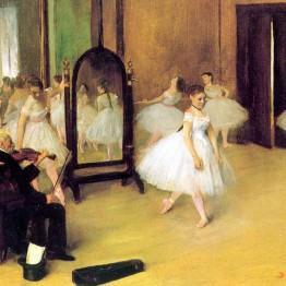 Edgar Degas. Clase de danza, 1871