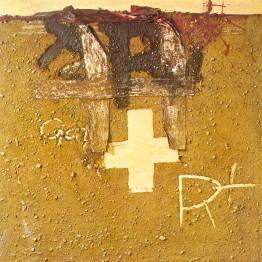 Antoni Tàpies. Cruz y Tierra, 1975