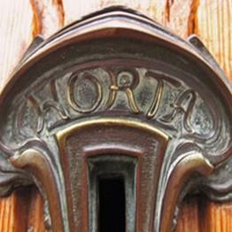 Reloj de bronce Art Nouveau de Victor Horta