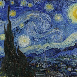 Van Gogh. A landscape in which the starry night