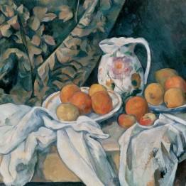 Cézanne. Bodegón con cortina, 1895