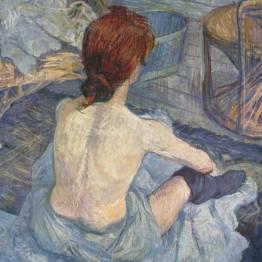 Henri de Toulouse-Lautrec. Femme à sa toilette, 1889