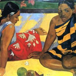 Paul Gauguin. Mujeres de Tahiti, 1891
