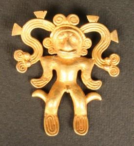 Pendiente antropomorfo. Museo Chileno de Arte Precolombino