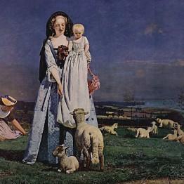 Ford Madox Brown. Pretty Baa-Lambs, 1851-59