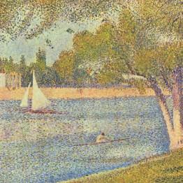 Seurat. El Sena y la Grande Jatte en primavera, 1888