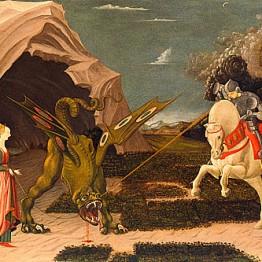 Ucello. San Jorge y el dragón, hacia 1455-1460