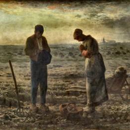 Pintores realistas. Millet. El Ángelus, 1857-1859.