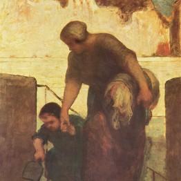 Daumier. La lavandera, 1860-1863. Realismo en pintura