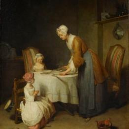 Chardin. Bendición, 1740