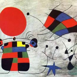 Surrealismo. Autor: Joan Miró. El somriure de les ales flamejants