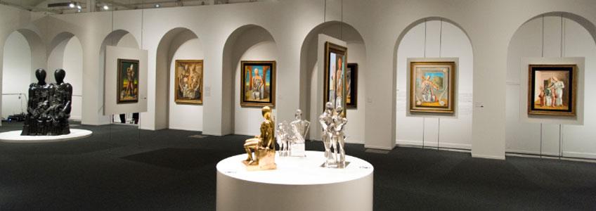 """Vista de la exposición """"El mundo de Giorgio de Chirico. Sueño o realidad"""" en CaixaForum Barcelona"""