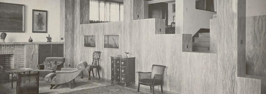 Adolf Loos. Interior de la casa Müller © The Albertina Museum, Viena