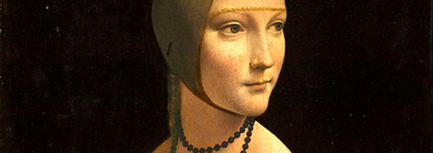 Leonardo da Vinci. La dama del armiño, 1483