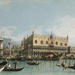 Giovanni Antonio Canal, Canaletto. El muelle de Venecia próximo a la plaza de San Marcos. Colección Abelló