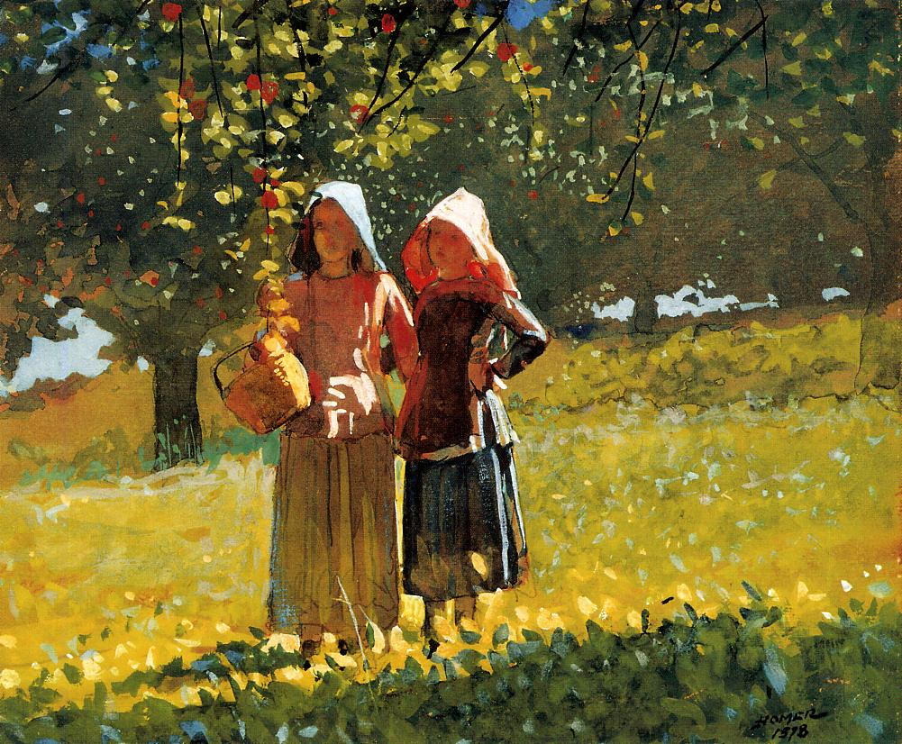 Winslow Homer. Apple Picking, 1878