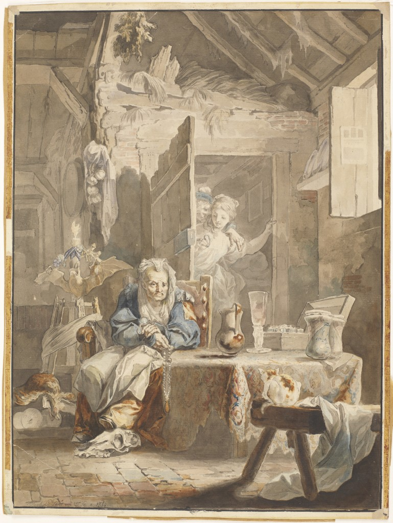 Luis Paret. La celestina y los enamorados, 1785. Museo Nacional del Prado