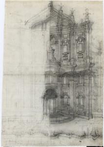 Francesco Borromini. Estudio idealizado para la fachada del Oratorio dei Filippini