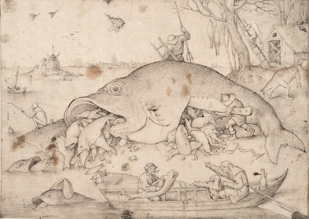Brueghel el Viejo. Big Fish eat little Fish, 1556. The Albertina Museum, Viena