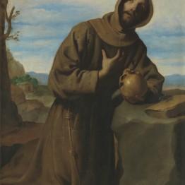 Francisco de Zurbarán. San Francisco en oración, 1659. Madrid, Museo Nacional del Prado. Donación Plácido Arango