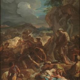 Corrado Giaquinto. El milagro del agua, hacia 1743