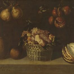 Alejandro Loarte. Bodegón con cesta de uvas y otras frutas, 1624. Madrid, Museo Nacional del Prado. Donación Plácido Arango