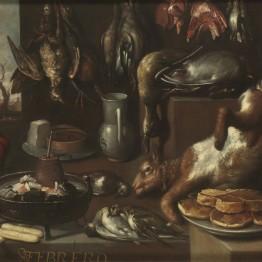 Francisco Barrera. Febrero, bodegón de invierno, 1640. Madrid, Museo Nacional del Prado. Donación Plácido Arango