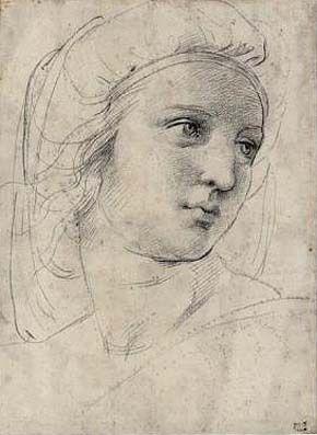 Rafael Sanzio. Cabeza de musa, 1508-1511