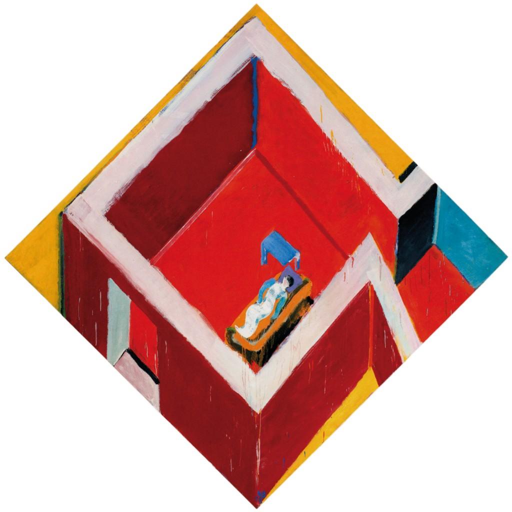 Juan Navarro Baldeweg. Habitación roja con figura, 2005. Colección Fundación Botín