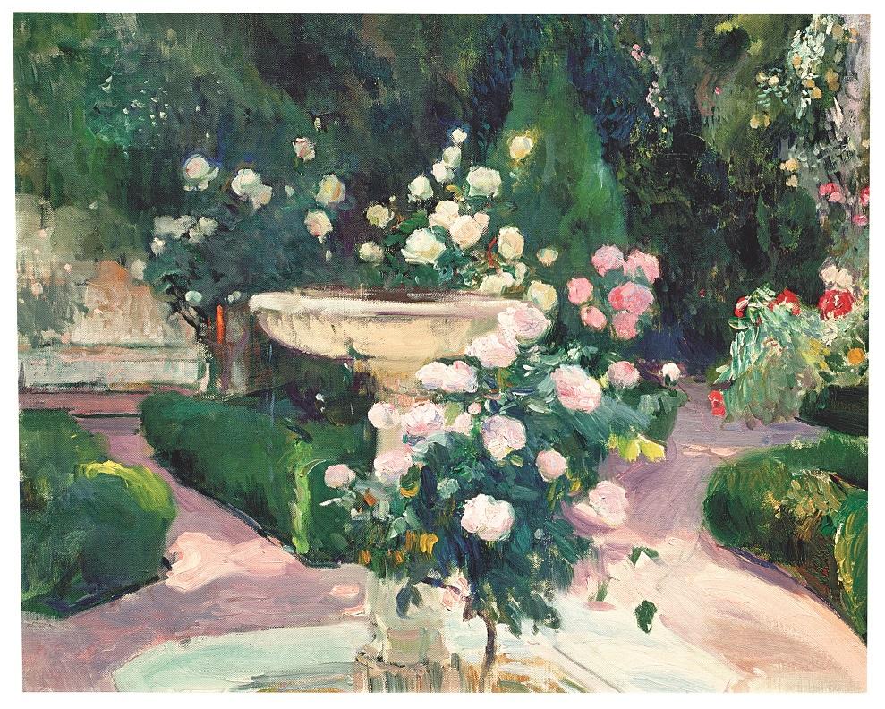 Joaquín Sorolla. Fuente y rosal de la Casa Sorolla