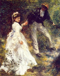 Pierre-Auguste Renoir. La Promenade, 1870. Getty Museum