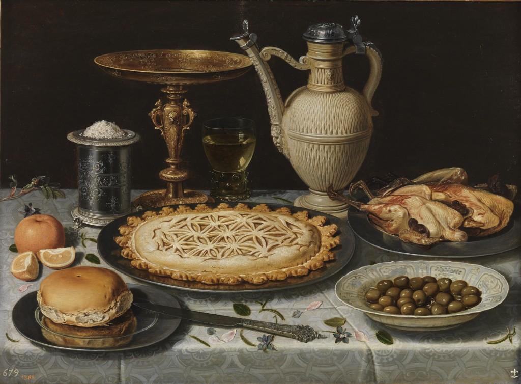 Clara Peeters. Mesa, hacia 1611. Museo Nacional del Prado