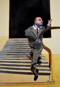 Francis Bacon. Retrato de un hombre bajando una escalera, 1972