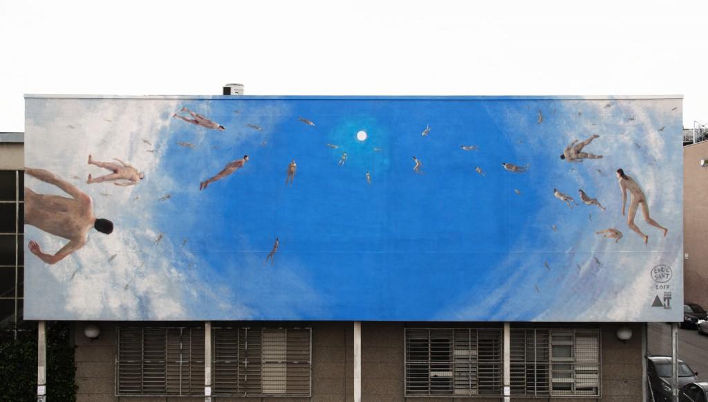 Enric Sant. Mural para Tuenti Urban Art Project. Universidad de Barcelona