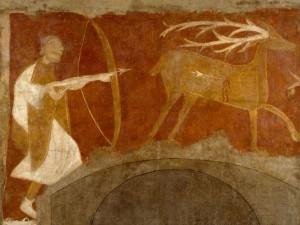 San Baudelio de Berlanga. La cacería del ciervo