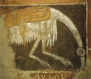 San Baudelio de Berlanga. Ibis en el ábside