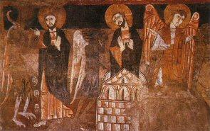 San Baudelio de Berlanga. Tentaciones de Jesús