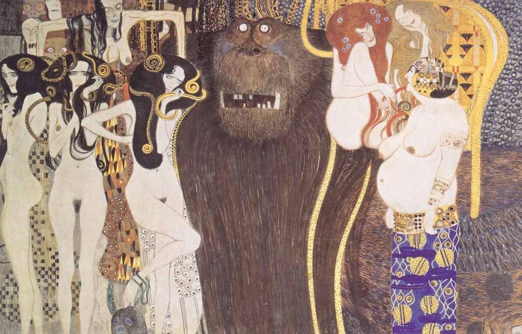 Gustav Klimt. Friso Beethoven. Las fuerzas enemigas, 1902