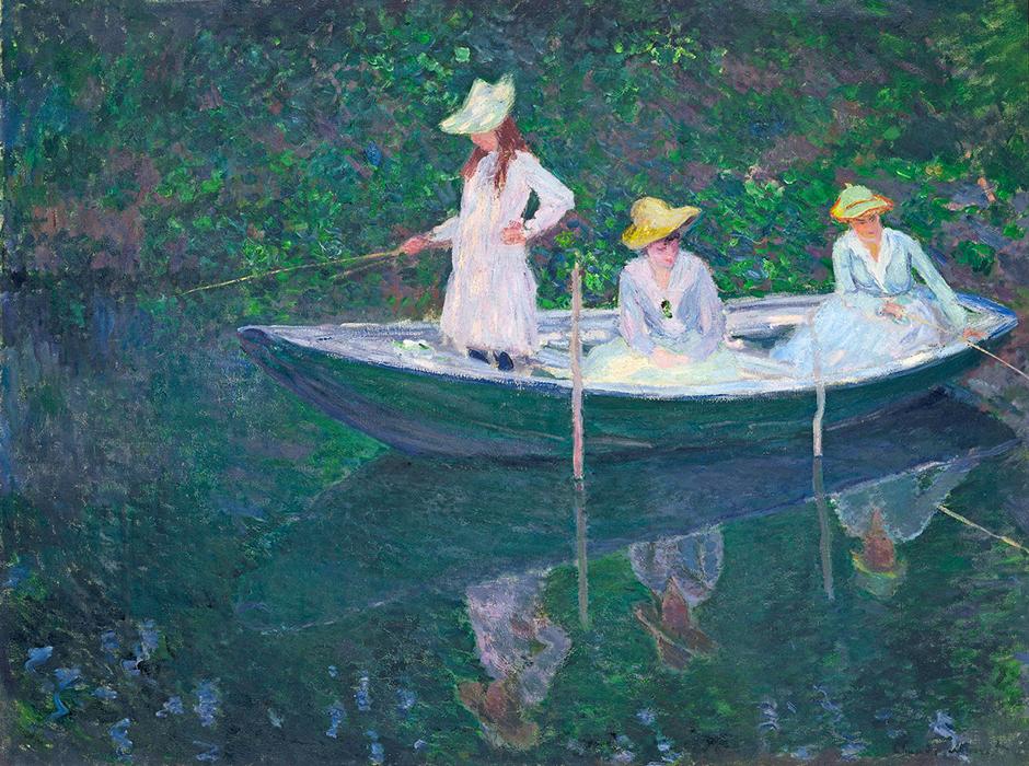"""Claude Monet. En el """"Norvégienne"""", hacia 1887. Musée d´ Orsay"""